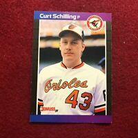 JOHN SMOLTZ ,  ATLANTA BRAVES 1989 SCORE MLB BASEBALL ROOKIE CARD #616 RC