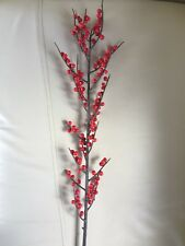 Winter Red Berry Pick Christmas Holiday Decoration, 40-Inch outdoor