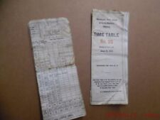 1939 Davenport, Rock Island & North-Western Railway Employee Timetable Lot ETT