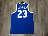 Nike Air Jordan 23 Mesh Jersey Tank Top Shirt Blue White Mens $70 NEW AR0026-405