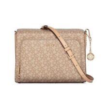 6ebb717a0c94 DKNY Bryant Pocket Signature Crossbody Bag Khaki Gold