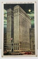 Equitable Building at Night New York City Postcard A4