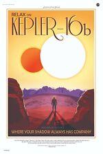 Relax on Kepler 16b NASA Space Travel Poster
