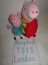 CUDDLY SOFT PEPPA&GEORGE PIG BUNLDE 2FOR1 PRICE/PRE-LOVED