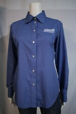 dfcba16f4 Chestnut Hill Misses MEDIUM Bell Helicopter Blue LS Button Front Blouse  Shirt