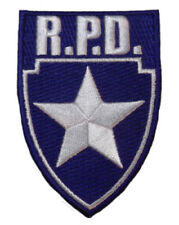 "RESIDENT EVIL R.P.D. Silver Star Blue Logo Shield 3 1/4"" PATCH"