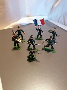 Lot de 7 soldats marins plastiques starlux