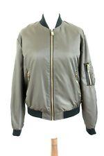 Zara Básico Nuevo con Etiqueta 49 Verde Militar Mujer Bomber Chaqueta Talla M