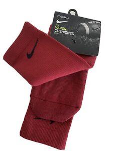 Nike Vapor Cushioned Football Crew Sock Burgundy Dri-Fit SX5698-677 NWT XL 12-15