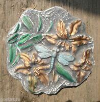 Flowers dragonfly plastic mold concrete plaster mould