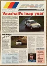 VAUXHALL SPORT 1988 Sport Publicity in Newspaper format