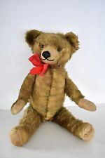 "Antique Vintage Teddy Bear Mohair English 19"" Pre War Plush Toy England 1900s"