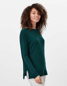 Joules Womens Vivianna Slash Neck Jumper - Dark Green