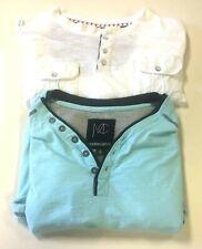 2 XL Mens Designer T Shirts Modern Culture Free Planet White Aqua Blue 1/4 Butt