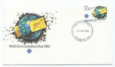STAMPS AUSTRALIA FDC SG887 WORLD COMMUNICATIONS YEAR 1983