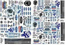 Ford Racing Decals   Waterslide Transfers for Model Cars in all popular scales