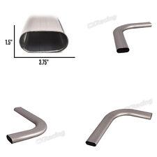 """CXRacing 3"""" Oval 90 Degree 304 Stainless Steel Pipe 16 Gauge Mandrel Bend"""