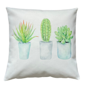 *SALE* Cactus trio - 40cm Ivory cushion cover botanical/kitchen/French country