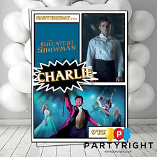 Personalised The Greatest Showman Birthday Card A5 Large - Any Name (S2)