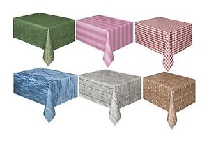 """TEXTURED/PATTERNED TABLECOVER 54"""" x 108""""(Partyware/Decoration/Birthday/Setting)"""