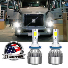 H11 LED Headlight Bulbs For Volvo 04-15 VN VNL VNM Truck 200 300 430 630 670 730