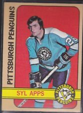 1972-73 TOPPS HOCKEY SYL APPS #11 PENGUINS EXMT *59161