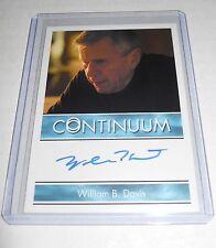 CONTINUUM SEASON 3 WILLIAM B. DAVIS as SADLER AUTOGRAPH TRADING CARD BORDERED
