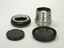 Jupiter-8 f/2 50mm silver early lens for Sony Nex E mount S/N 5614885 CLA! EXC+