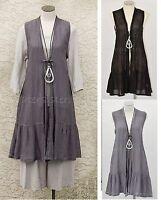 CHEYENNE  DT0624  Linen Gauze  CORSET TIE BALLOON DRESS  S//M L//XL  2017 Colors