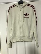 Adidas Cream Hoodie Size Small S Women Long Sleeve Good Condition (E27)