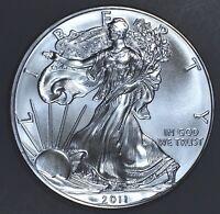 2011 1 oz AMERICAN SILVER EAGLE BRILLIANT UNCIRCULATED ASE  SKU2011B