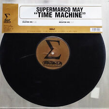 "Supermarco May ‎– Time Machine - Sigma Records Sigma 043 VINYL 12"" TRANCE"