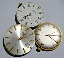 3 x Gent's Vintage Mechanical Wristwatch Movements - Seiko Tissot Rotary Ref#3