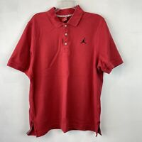 Nike Air Jordan Sz XL Men's Jumpman Polo Shirt Red 100% Cotton Short Sleeve
