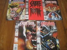 Marvel Comics Sabre Tooth Death Hunt4 Issues + Sabre Tooth Classic