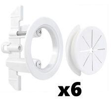 """6 Pack Set Midlite Speedport 2"""" Pass Thru Wall Anchor Sound Bar White MID2024Wx6"""