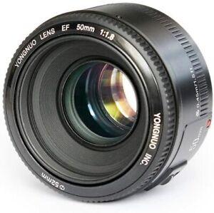 YONGNUO YN50mm F1.8 Large Aperture Auto Focus Lens Canon EF Mount EOS Camera