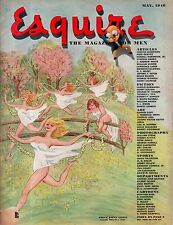 1946 Esquire May-Gatto artwork; 300 ghosts; Bullfighting;Minstrels;Wilbur Wright
