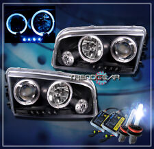 2006-2010 DODGE CHARGER HALO LED PROJECTOR HEADLIGHT+HID 8K BLACK 2007 2008 2009