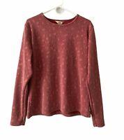 Woolrich Women's Top Long Sleeve Leaves Striped Shirt Sz XL