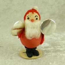 Vintage Spun Cotton Santa Elf Band Cymbal Player Christmas Figurine Putz Japan