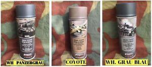 Lot de 3 Bombes spray peinture - Allemand 2nd  guerre WW2