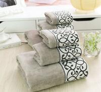 Luxury Cotton Towel Set Adult Handkerchief Embroidery Facial Bath Towels Sets
