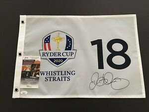 2020 Ryder Cup Flag Signed By Rory Mcilroy, JSA Certificate/Sticker!