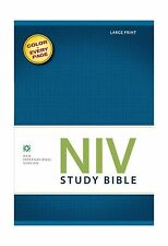 NIV Study Bible Large Print Hardcover Red Letter Edition Free Shipping