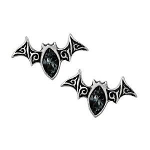 Alchemy Gothic Viennese Nights Bat Stud Earrings