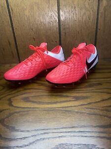 Nike Tiempo Legend 8 Elite FG ACC Red/White AT5293-606 Men's Size 8