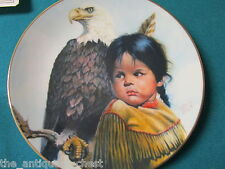 "Pride of American Indians collector plate by Perillo NIB ""Brave and Free"" [am9]"