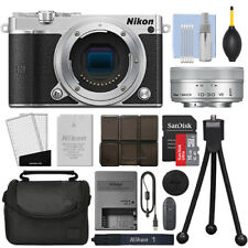 Nikon 1 J5 Mirrorless Digital Camera with 10-30mm VR Lens Silver + 16GB Kit