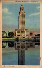 Louisiana Baton Rouge State Capitol Building Postcard used 1949